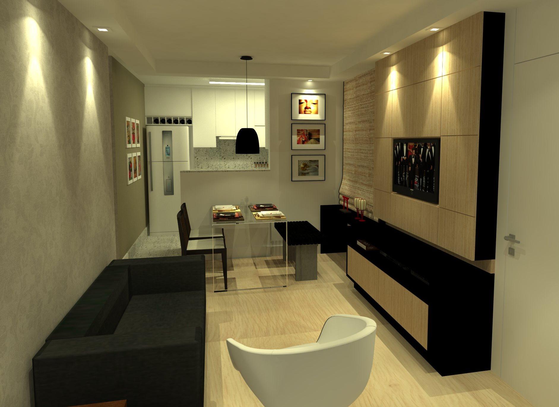 Cozinha E Sala De Jantar No Mesmo Ambiente Sala De Jantar Com Mesa  -> Sala E Cozinha Mesmo Ambiente